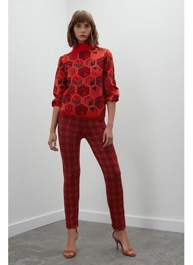 Join Us Desenli Cepli Multi Triko Pantolon Renkli